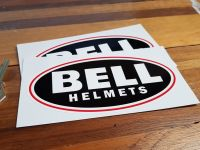 """Bell Helmets Black Oval Stickers. 2.25"""", 3"""" or 6"""" Pair."""