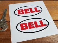 Bell Helmets Plain Oval Stickers. 1.75