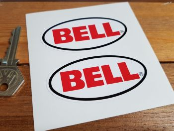 """Bell Helmets Plain Oval Stickers. 1.75"""", 2"""", 3"""", 4"""", 5"""" or 6"""" Pair."""