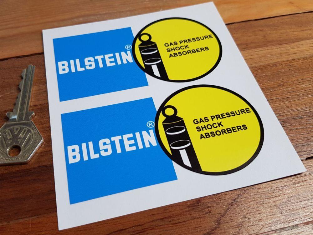 """Bilstein Gas Pressure Shock Absorbers Stickers. 4"""", 4.5"""", 6"""", 8"""" or 9"""" Pair."""