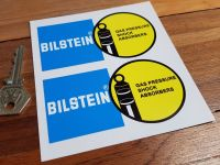 "Bilstein Gas Pressure Shock Absorbers Stickers. 4"", 4.5"", 6"", 8"" or 9"" Pair."