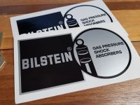 Bilstein Shock Absorbers Black & Silver/Clear Stickers 6