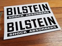 "Bilstein Shock Absorbers Black & White Oblong Stickers Pair 5"", 7"", 8"" or 10"""