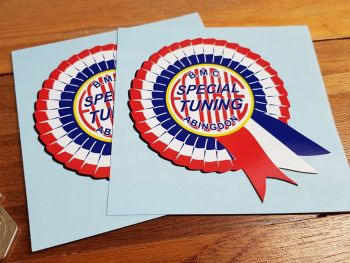 "BMC Ecurie Special Tuning Abingdon Rosette Stickers. 2"" or 4"" Pair."