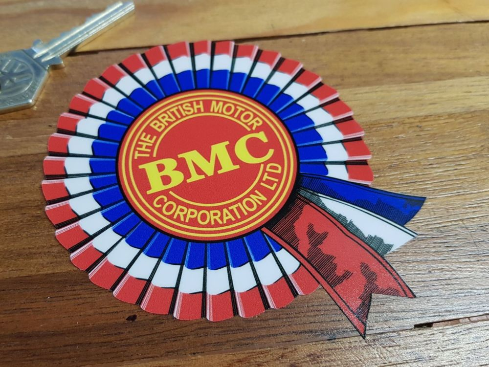 "BMC Shaded Style Rosette Window Sticker. 4""."