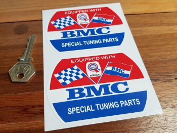 """BMC Special Tuning Parts Barrel Stickers. 2"""", 3.5"""" or 4"""" Pair."""