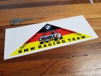 "BMW Triangular Racing Team Sticker. 7.75""."
