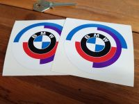 BMW Gunsight Style Roundel Static Cling Window Stickers. 70mm Pair.