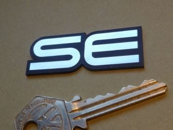 "Lotus Esprit style 'SE' Text Laser Cut Self Adhesive Car Badge. 2""."