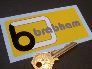 "Brabham Formula One Team Yellow Sticker 4"""