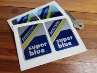 Armstrong Super Blue 60's & 70's Shock Absorber Stickers. 75mm Pair.