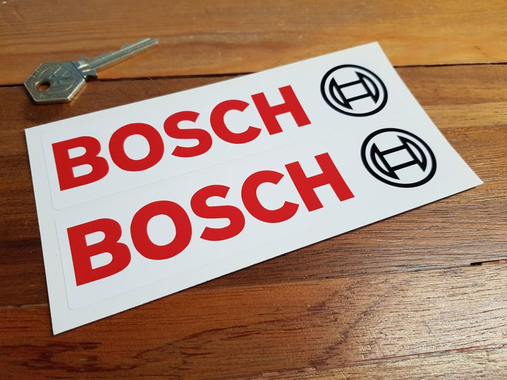 Bosch Text & Logo Oblong Stickers. 4.25