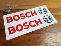 Bosch Text & Logo Oblong Stickers - White - 4.25