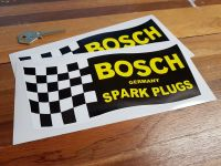 Bosch Chequered Flag Style Stickers. 8