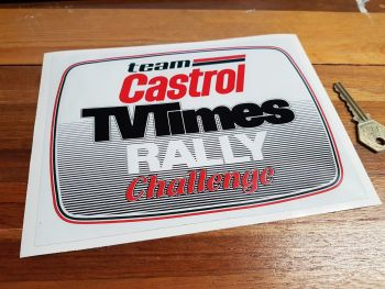 "Team Castrol TV Times Rally Challenge Sticker. 8""."