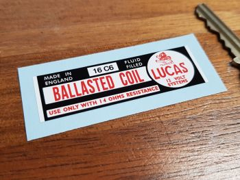 Lucas Ballasted Coil Sticker. 12V. 16 C6. 9.