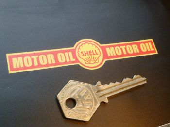 "Shell Motor Oil Bottle Seal Sticker. 4.25""."