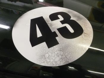 Distressed Style Racing Roundels Plain. Various Sizes. Available Singly.