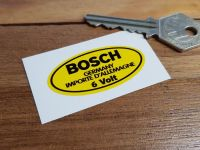 Bosch Germany 6 Volt Oval Yellow Sticker. 2
