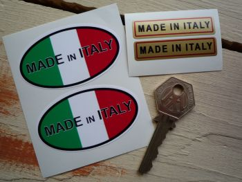 Made In Italy Stickers. Set of 4.