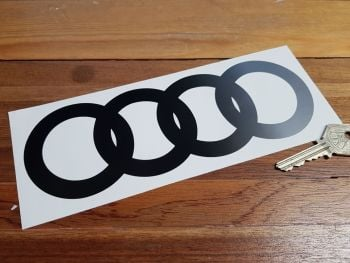 """Audi Hoops Cut to Shape Fade Side to Side Stickers. 8"""" Pair."""