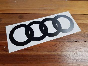 """Audi Hoops Cut to Shape Fade Side to Side Sticker. 16""""."""
