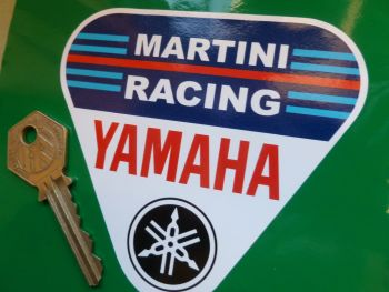 Martini Racing Yamaha Triangle Sticker. 4""