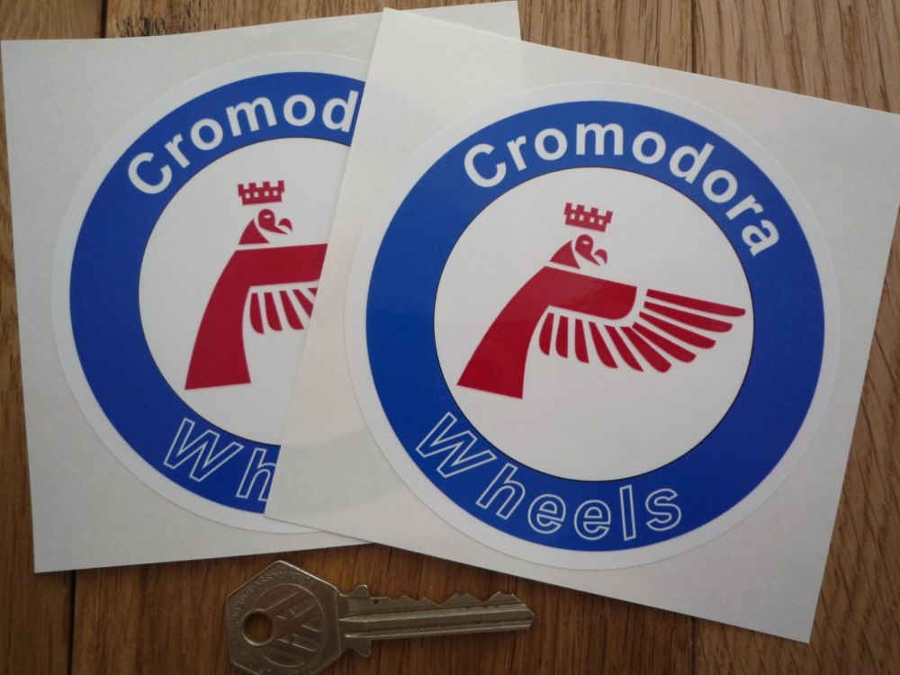 Cromodora Wheels Round Stickers. 60mm or 100mm Pair.