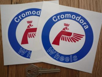 Cromodora Wheels Round Stickers. 60mm or 100mm Pair.