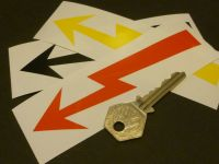 Electrical Switch ID 1960's Lightning Style Sticker. 125mm