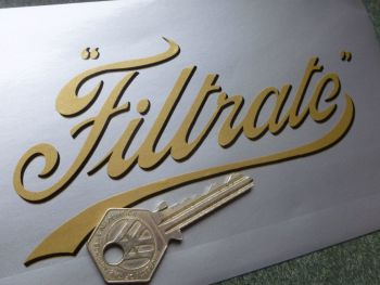 "Filtrate Old Thin Shaded Style Script Sticker.  6"" or 9"""