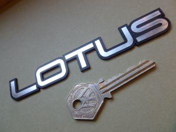 "Lotus Esprit Style Square Text Laser Cut Self Adhesive Car Badge. 5.25""."