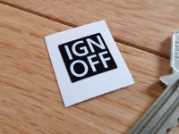 IGN OFF Ignition Sticker 15mm