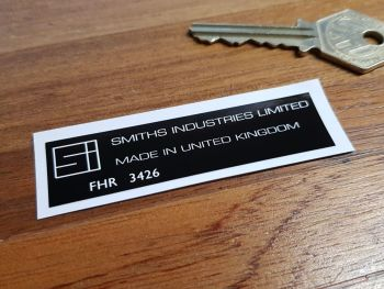 Smiths Industries Limited Heater Label FHR 3426 Sticker. 72mm.