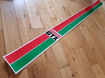 "Castrol GTX Body Stripe Sticker. 57.5"" x 4"". Slight Second 162."