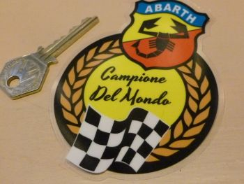 Abarth Campione Del Mondo World Champions Window Sticker 4""