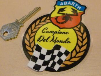 """Abarth Campione Del Mondo World Champions Window Sticker 4"""""""