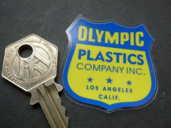 Olympic Plastics Shield Style Window Sticker. 44mm