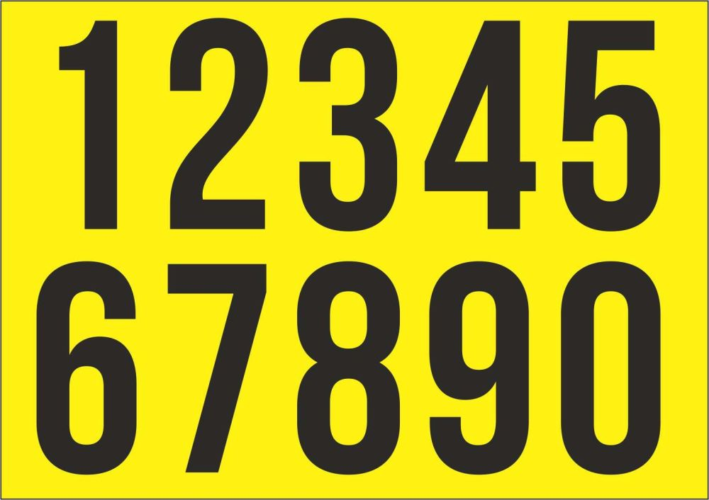 A Racing Numbers Sticker. Mallory Font. Various Sizes.