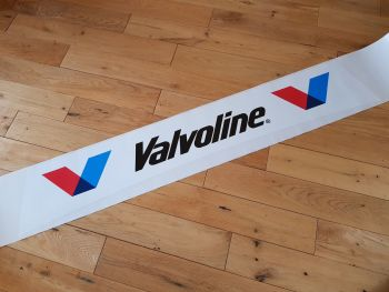 "Valvoline Curved Screentop Double V Style Sticker. 42""."