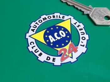 """ACO Coloured LeMans 24 Circular Sticker. 2.5""""."""