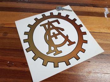 "ACF Automobile Club de France Cut Vinyl Cog Logo Sticker 8"""
