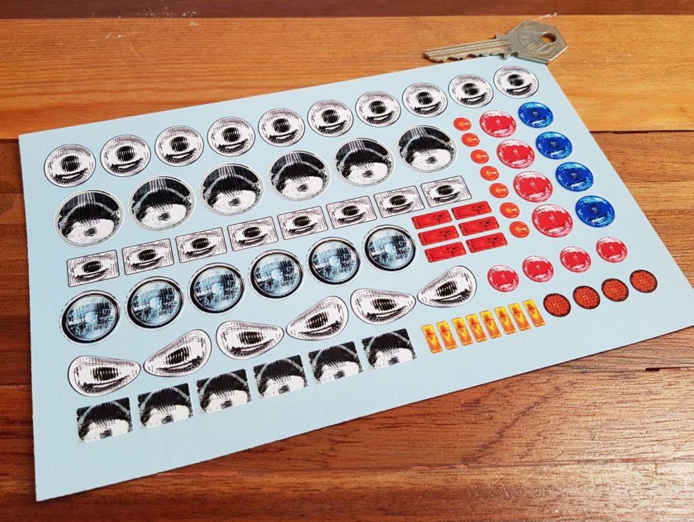 RC Radio Controlled Model Car Mardave Headlamp Sugiyama 27 RC 14/95 Sticker