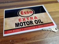 Esso Extra Motor Distressed Can Style Sticker 210mm