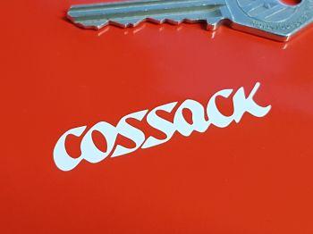 """Cossack Cut Vinyl Stickers. 2"""" Pair."""