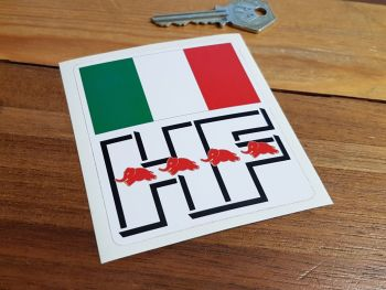 Lancia Delta Integrale HF & Tricolore Oblong Sticker 3.5""