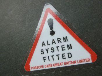 """Porsche GB 80's Style Alarm System Fitted Window Sticker. 2"""""""