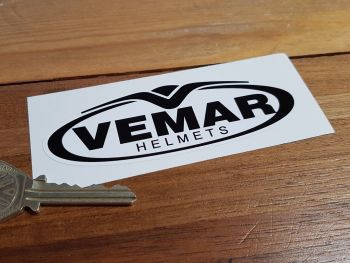 Vemar Helmets Black & White Logo Sticker 110mm