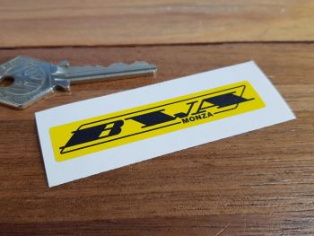 BWA Monza Black & Yellow Sticker 3""