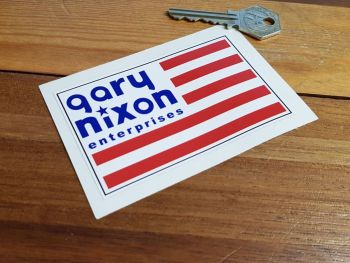 Gary Nixon Enterprises USA Flag Sticker 4""